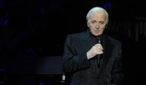 French singer Charles Aznavour performs live at the State Kremlin Palace in Moscow, Russia, December 12, 2011. Photo by Sergei Fadeichev/Itar-Tass/ABACAUSA.COM    # 301311_002