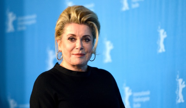 French actress Catherine Deneuve poses during the photocall for 'In the courtyard' (original title: Dans la cour) at the 64th annual Berlin Film Festival in Berlin, Germany, 11 February 2014. The movie is presented in the Berlinale Special Gala section of the festival, which runs from 06 to 16 February 2014. Photo by Jens Kalaene/DPA/ABACAUSA.COM