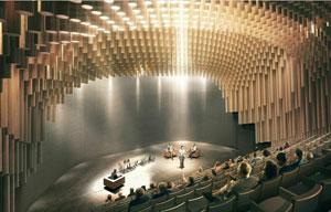 Vue d'artiste du futur auditorium Thomas Jefferson (Credit: XTU)