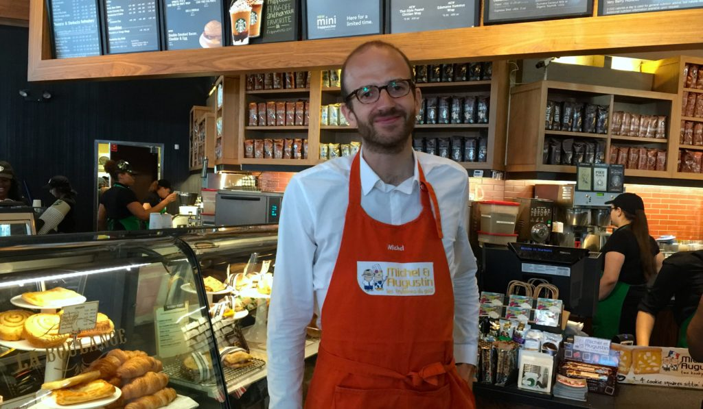 Michel de Rovira, dans un Starbucks de New York.