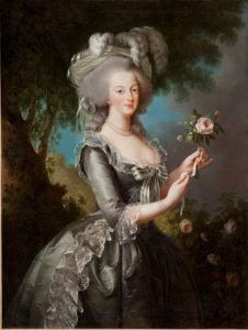 Marie-Antoinette à la rose/Vigée le Brun