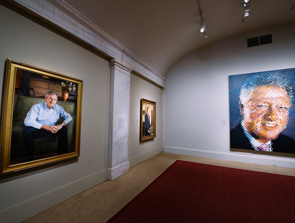 """America's president"" a la National Portrait Gallery"
