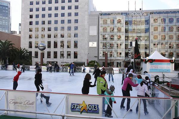 La patinoire sur Union Square
