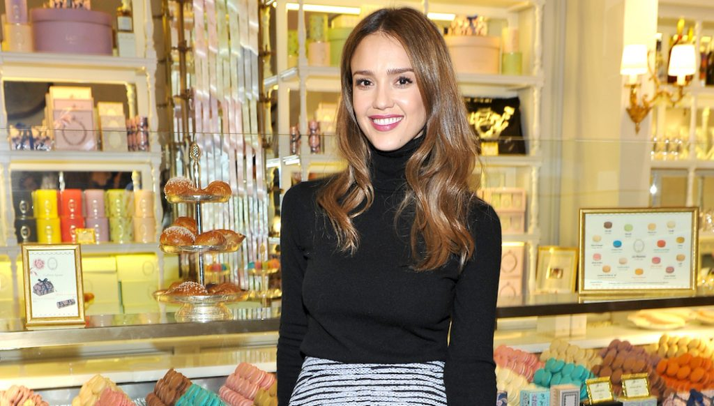 LOS ANGELES, CA - DECEMBER 20: Actress Jessica Alba attends the opening of Laduree at The Grove in Los Angeles hosted by Rick Caruso and Jessica Alba in Partnership with Baby2Baby at The Grove on December 20, 2016 in Los Angeles, California. (Photo by Donato Sardella/Getty Images for Caruso)
