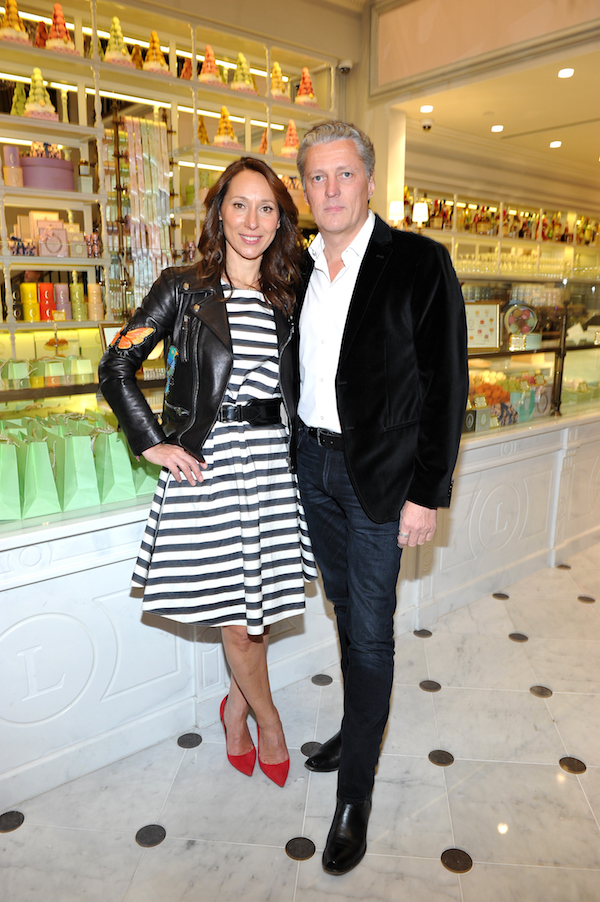 LOS ANGELES, CA - DECEMBER 20: Ladurée co-president Elisabeth Holder Raberin and Pierre-Antoine Raberin attend the opening of Laduree at The Grove in Los Angeles hosted by Rick Caruso and Jessica Alba in Partnership with Baby2Baby at The Grove on December 20, 2016 in Los Angeles, California. (Photo by Donato Sardella/Getty Images for Caruso)