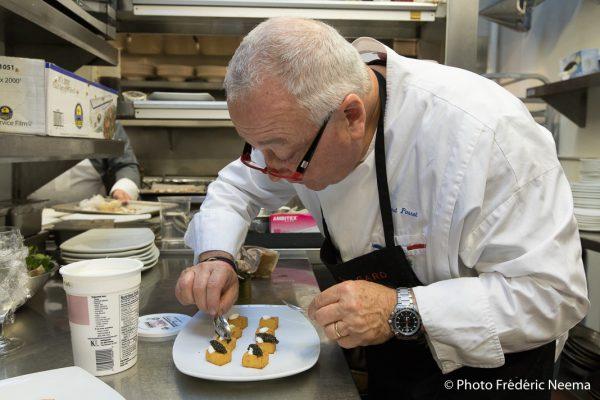 Roland Passot en cuisine