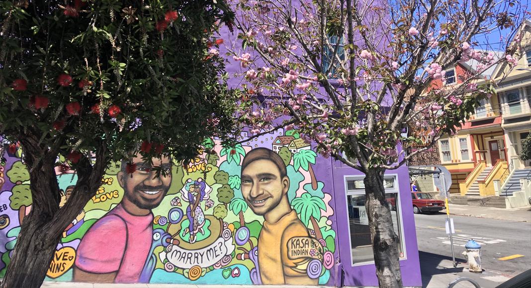 Quartiers de San Francisco en français. Mission et Castro, street art et histoire LGBT. Guide professionnel(le).